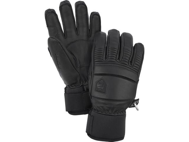Hestra Leather Fall Line 5-Finger Handschuhe black
